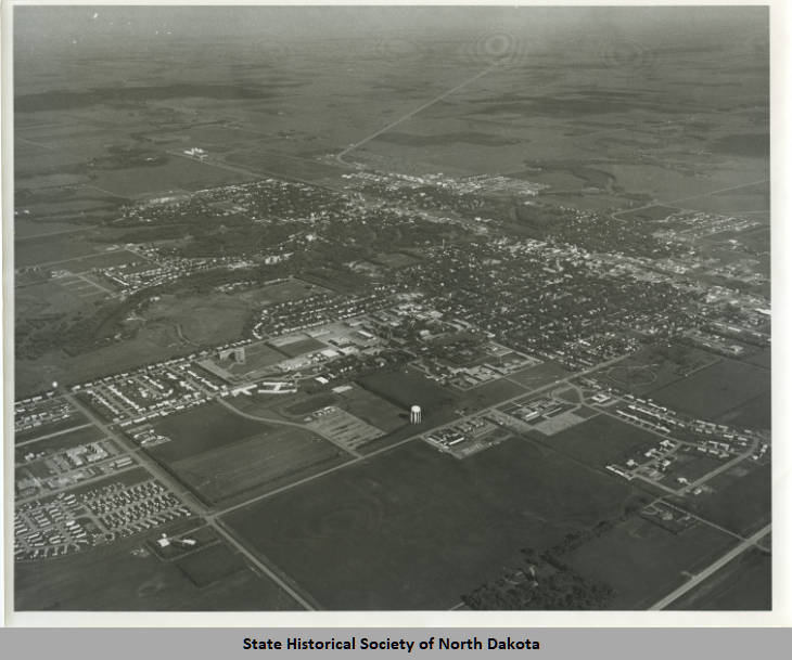 Aerial shot of Wahpeton, ND